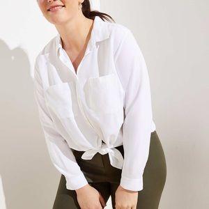 NWT LOFT Plus Button Down Tunic Shirt. Size 22